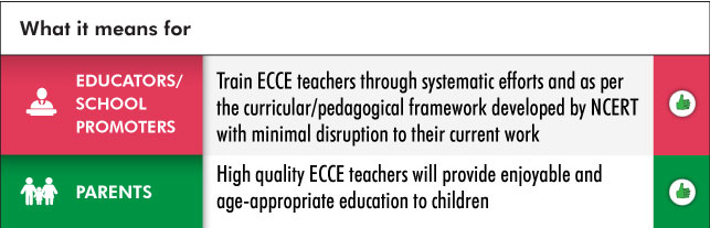 Early childhood care and education Teachers training