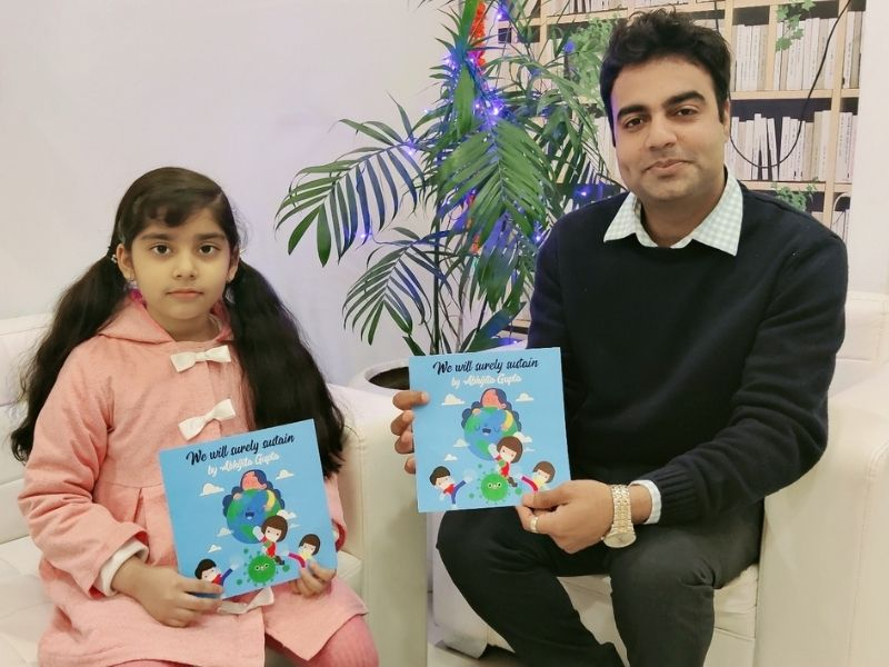 7-year old Abhijita Gupta becomes the first Indian kid to ink a four-book deal