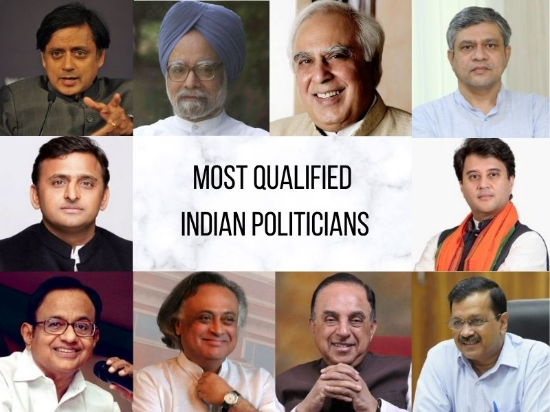 Most qualified politicians of India